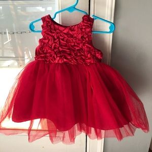 Christmas dress , size 12 months, red